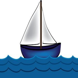 Free Sailboat Clip Art Image Cartoon Sailboat Drawing With