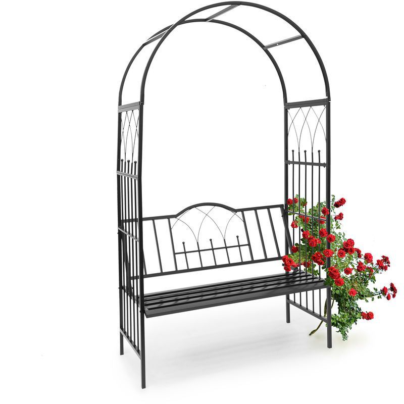 Arche A Rosiers Avec Banc Decoration De Jardin H X L X P 203 X