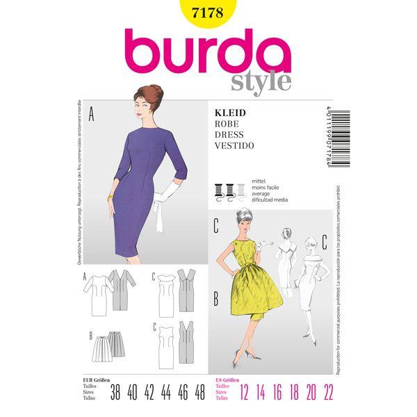 Abito vintage, Burda 7178