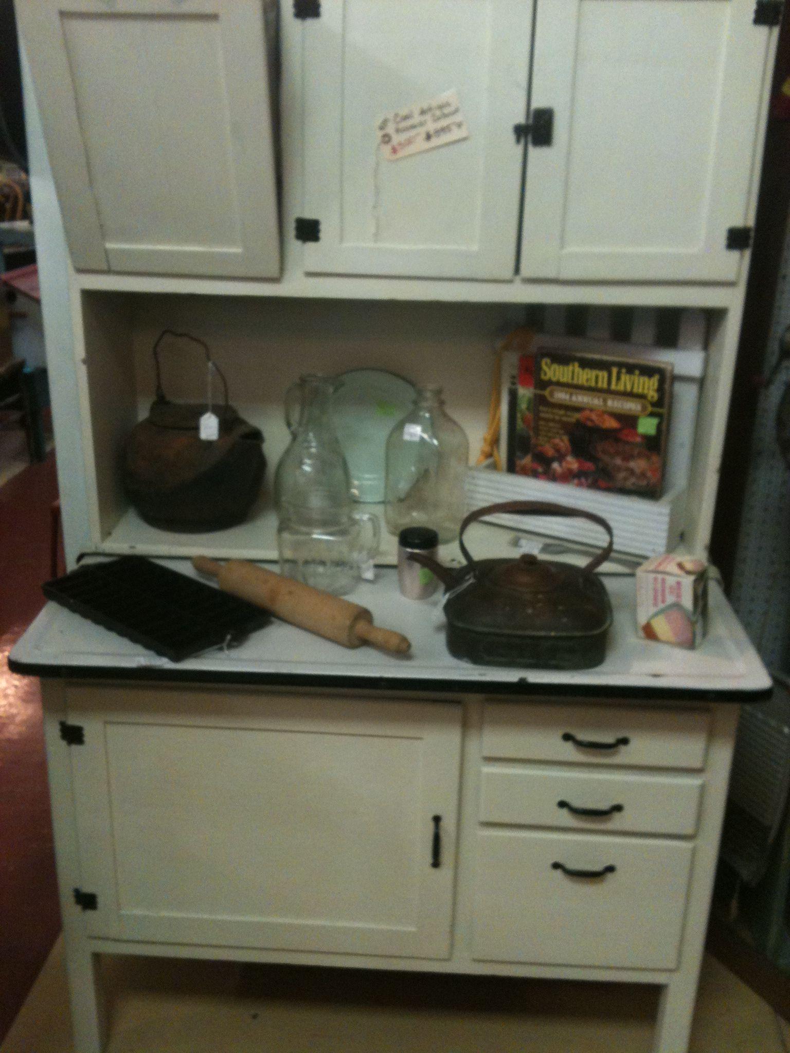 Vintage Kitchen Hutch Corner Cabinet Antique Hoosier With Metal Flour Bin And