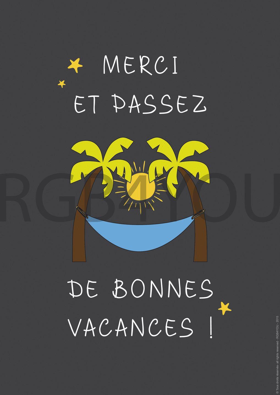 Merci De Bonnes Vacances Image Numerique Theme Ecole Fichier