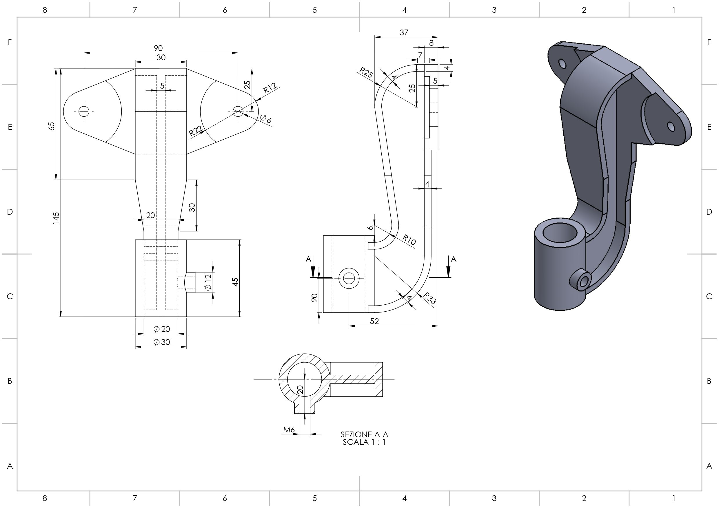 Solidworks Exercise Practice Drawing 3d Mechanical