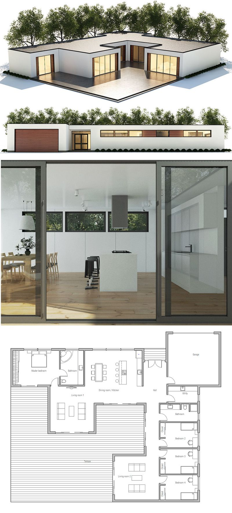 Container Homes Design Plans Property casa moderna- 4 bedrooms, 2 living spaces, courtyard | dream homes