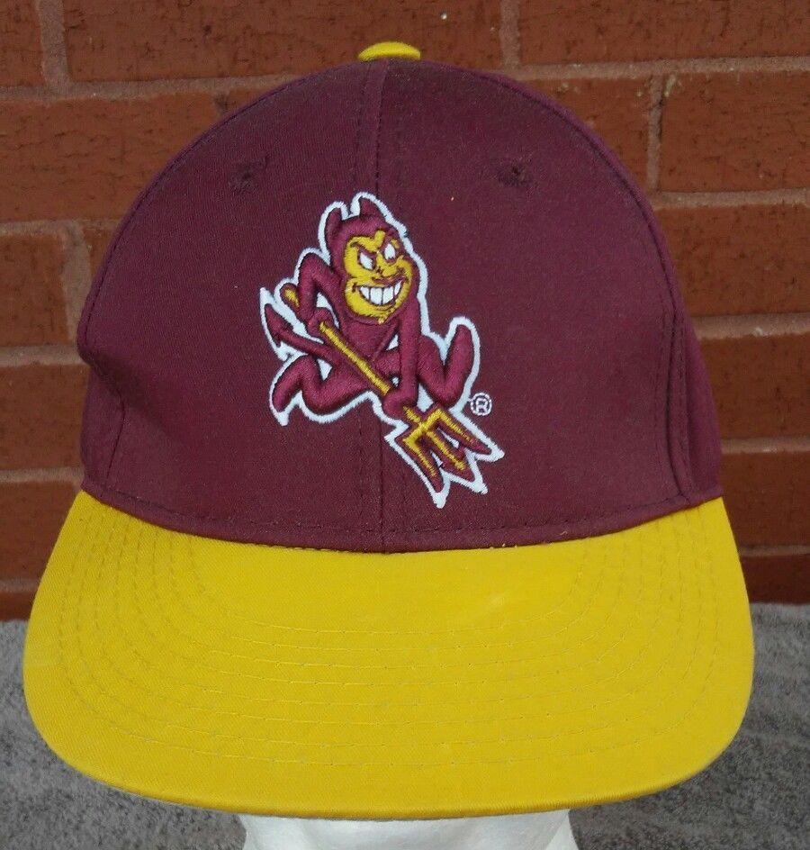 big sale 337cc d04ad ... shopping vintage asu hat sun devils arizona state university ncaa cap  baseball hat challengercaps trucker d45e8