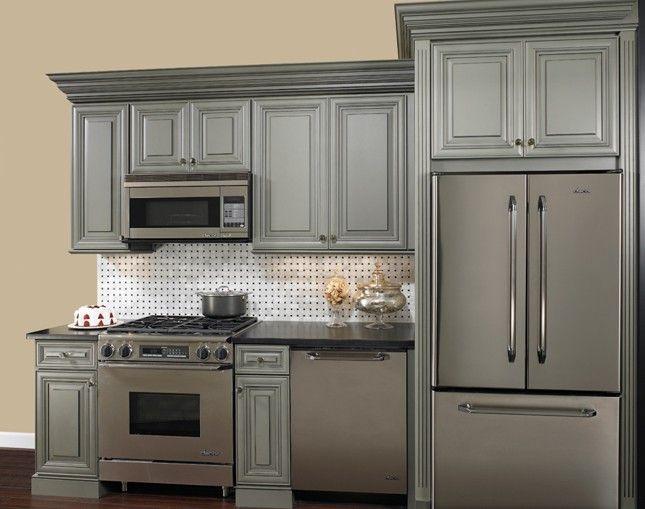 glazed kitchen cabinets appliance bundle grey for the home pinterest