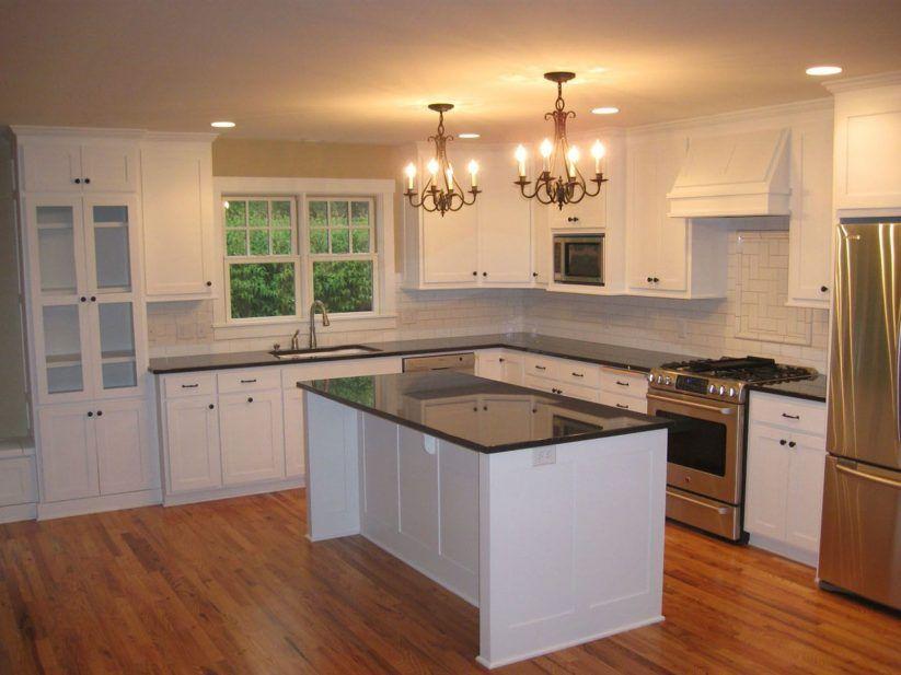 Good Warm Kitchen Paint Colors White Stained Wooden Backsplash Wooden Varnish  Kitchen Cabinet Cream Stone Tile Flooring