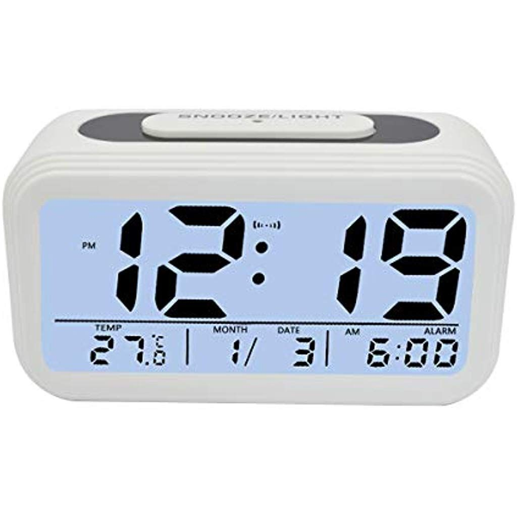 Kidspark Wecker Digital Digitaler Wecker Led Kinderwecker Mit Datum Temperatur Anzeige Batterie Digitalwecker Reisewecker Alarm Clock Clock Digital Alarm Clock