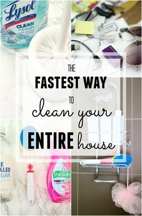 Clean your house FAST! The best tips I've found online!