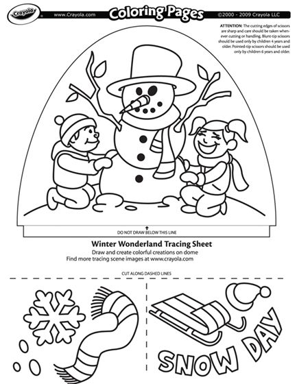 Winter Theme Coloring Pages Dome Light Designer Winter