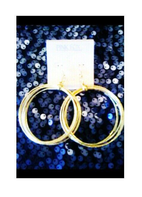 Gold Multi-Hoop Earings $6.95