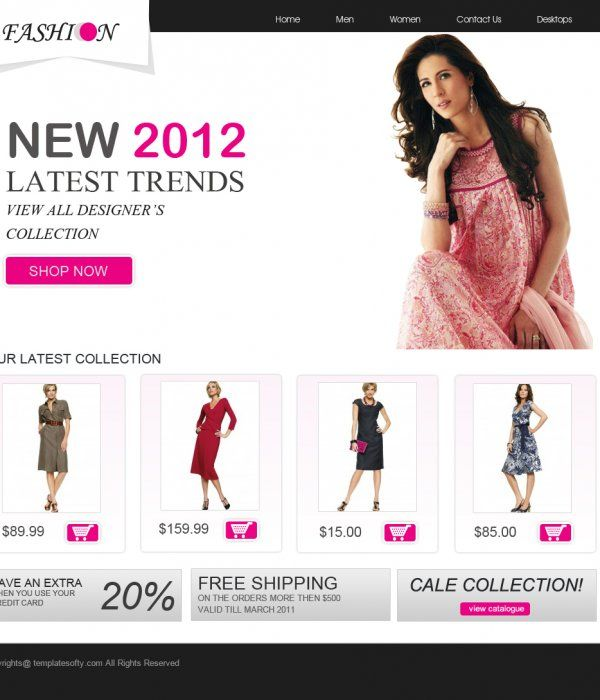 Download fashion website templates free of cost.Grab and download ...
