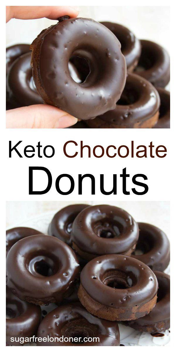 These moist Keto chocolate donuts will satisfy the most urgent chocolate craving. A delicious treat that's sugar free, gluten free and low carb. moist Keto chocolate donuts will satisfy the most urgent chocolate craving. A delicious treat that's sugar free, gluten free and low carb.