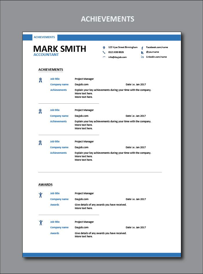 Accountant resume template, CV, example, sample, accounting, skills - Cv Example