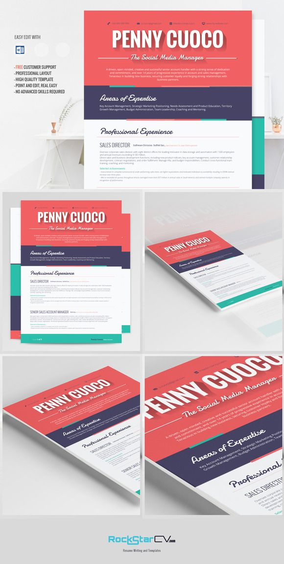 Flat Resume Template - Ara @creativework247 Perfect Resume - easy perfect resume
