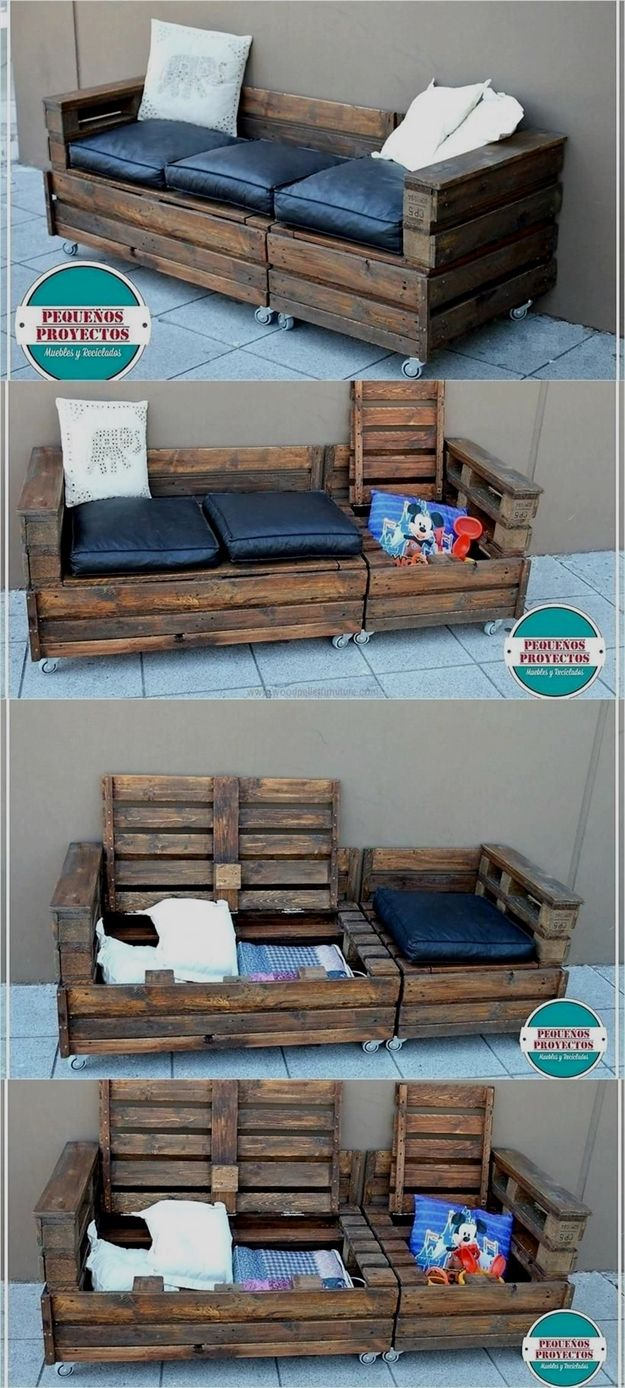 40+ DIY Easy Recycled Outdoor Pallet Furniture Ideas