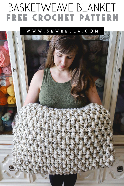 Crochet mini basketweave blanket crochet knitted