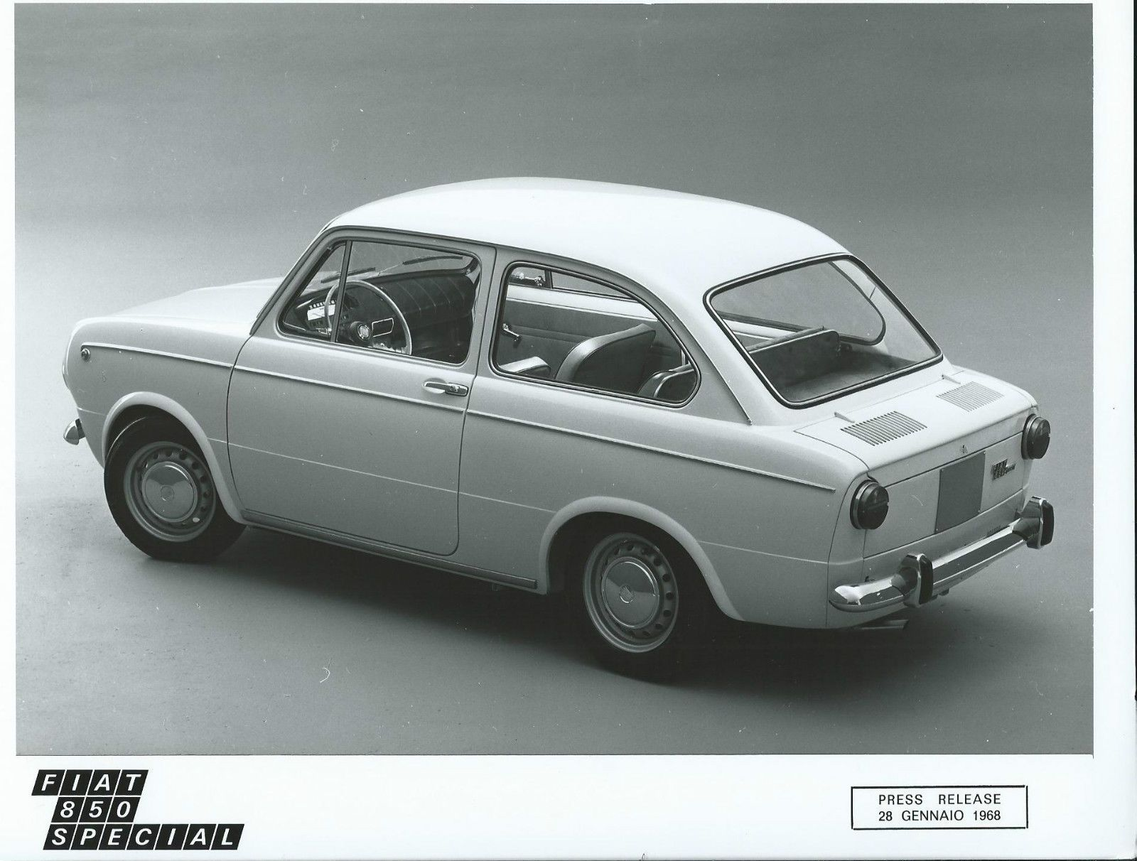 Fiat 850 Special Original 1968 Press Photograph Excellent