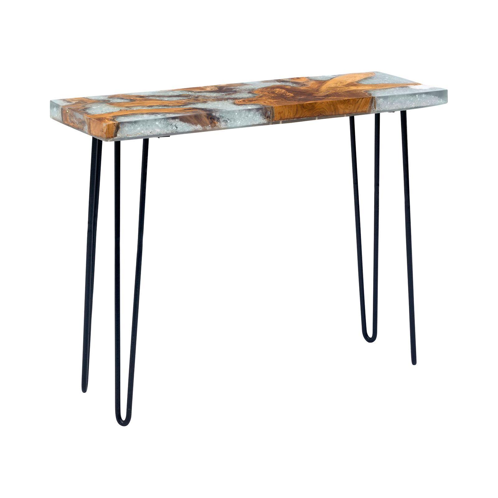 Granular Console Table Dot Bo Console Table Zm Home Teak Wood