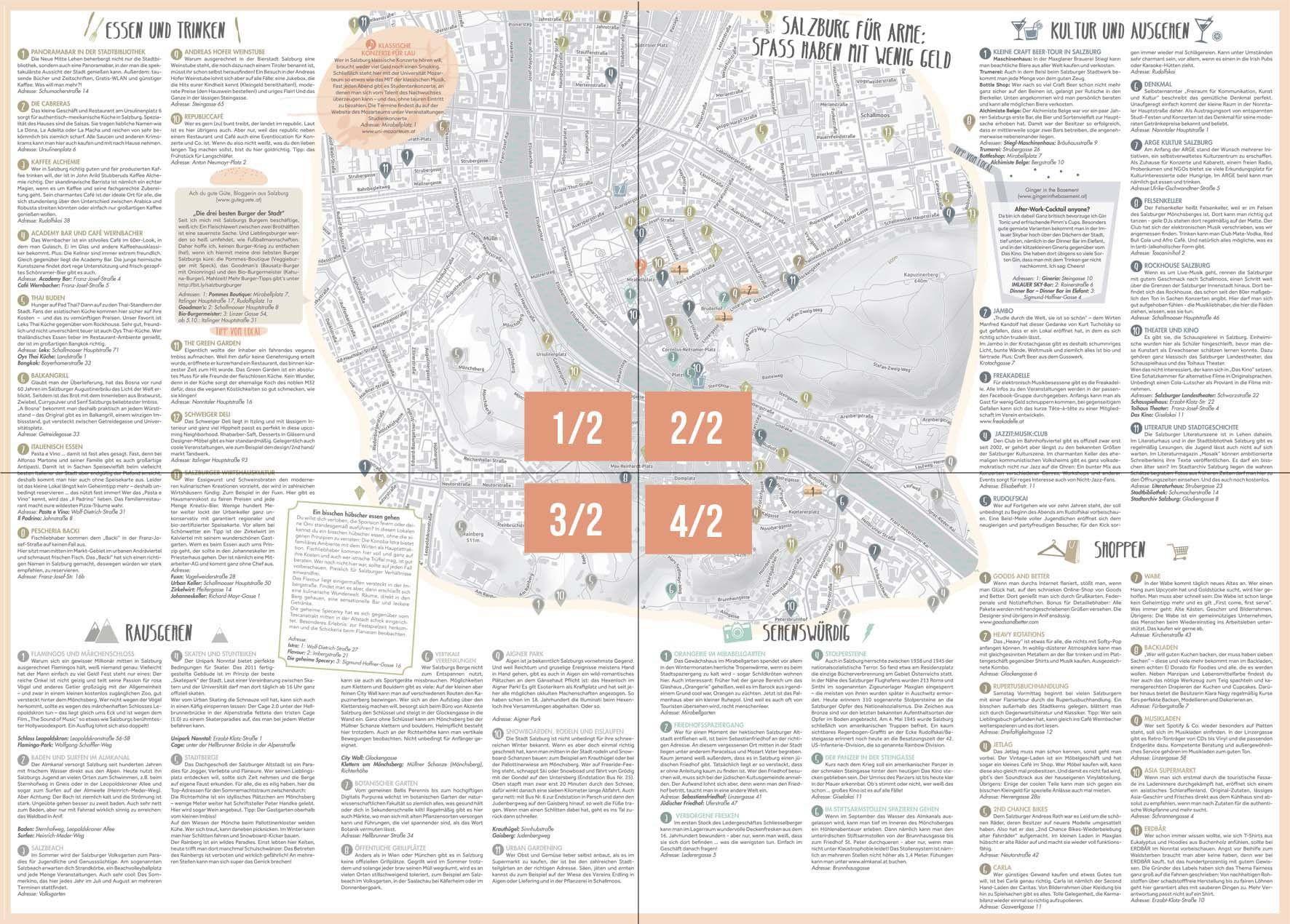 Alternative City Map Of Salzburg Stadt Planer Und Salzburg