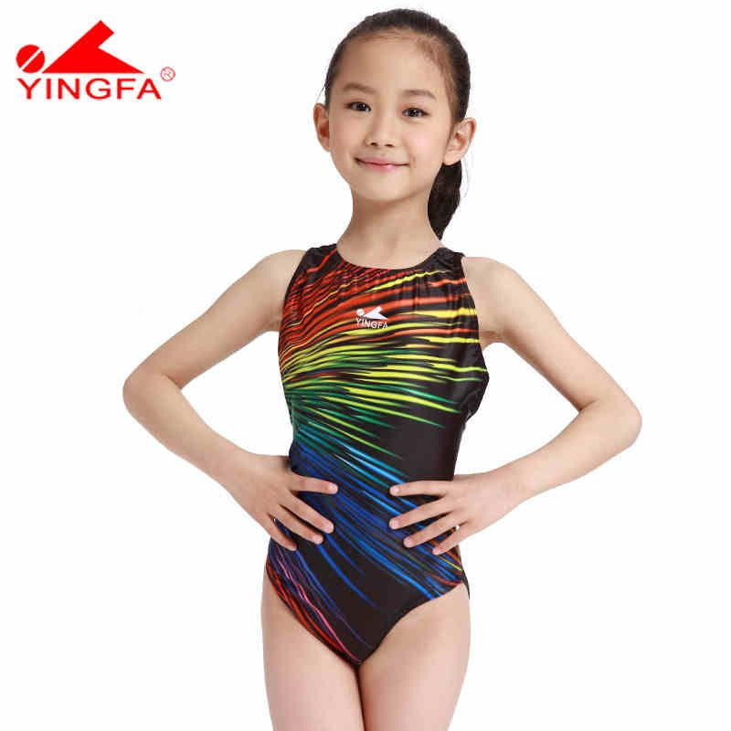 dad890b88a7 Yingfa swimwear swimsuit arena Girls swimSwimSuits children racing  competition kids swimming SwimSuits professional hot St. Lucia ** This is  an Amazon ...