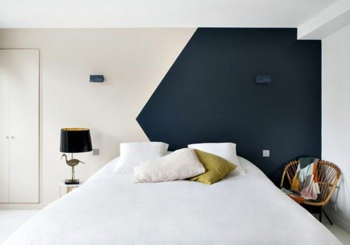 nos astuces en photos pour peindre une pi ce en deux couleurs bedroom pinterest. Black Bedroom Furniture Sets. Home Design Ideas
