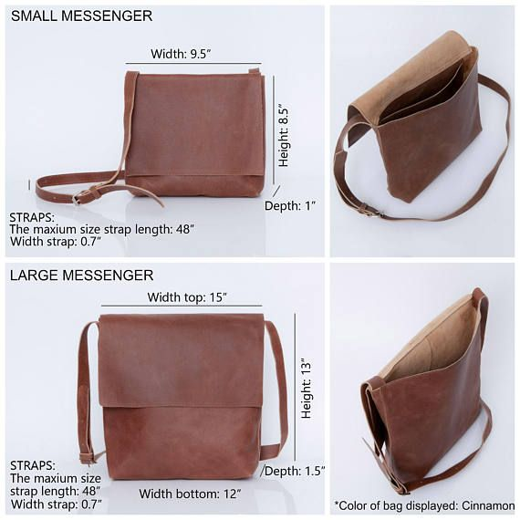 Brown Leather Crossbody Bag Small
