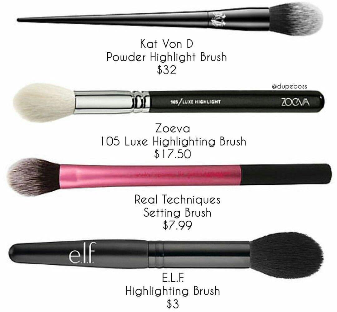 Pin By Mai El Naggar On Beauty Tips Makeup Brush Dupes Makeup Dupes Highlighter Brush
