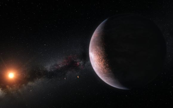 Artist S Impression Showing Several Of The Planets Orbiting The Ultra Cool Red Dwarf Star Trappist 1 Credit Eso Planetary System Universe Today Planets