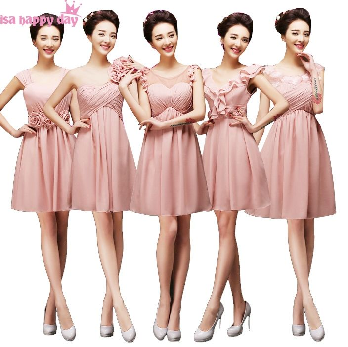 hot and sexy new in blush dusty pink a-line v neckline bridesmaid ...