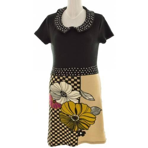 dd902170bf SMASH fekete színű virágos vastag ruha (Méret: XL) - Ruha mindennapokra -  Öltözz