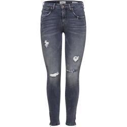 Photo of Only Onlkendell Reg Ankle Zip Skinny Fit Jeans Damen Grau Only