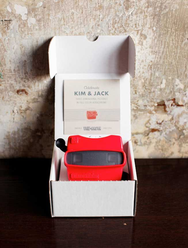 A Viewmaster invitation serves as a great way for couples to
