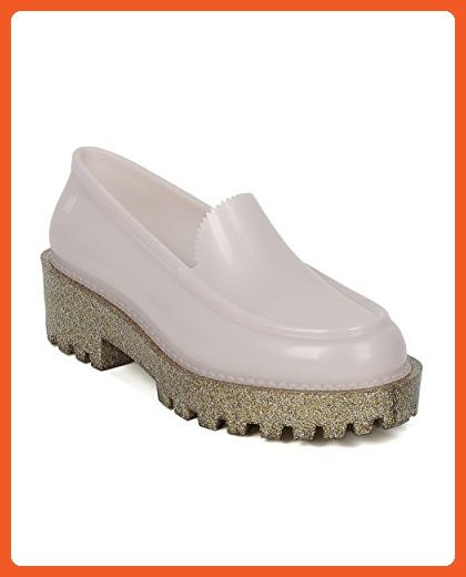 560235f73525c Women Jelly Loafer - Glitter Lug Sole Slip On Creeper - Trendy ...