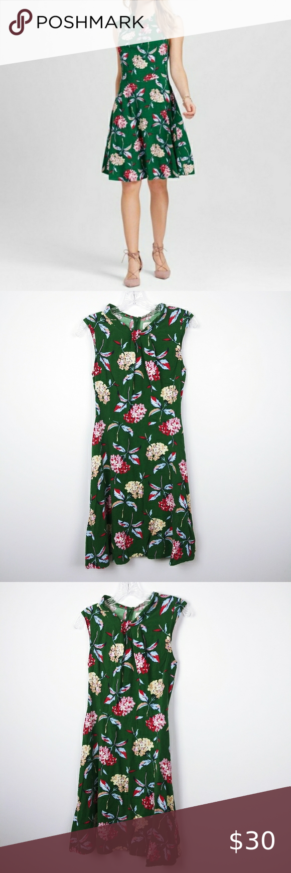 Isani For Target Green Floral Dress Size Small Green Floral Dress Floral Dress Dresses [ 1740 x 580 Pixel ]