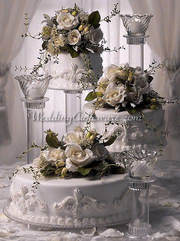 3 Tier Wedding Cake Stand Stands Candle