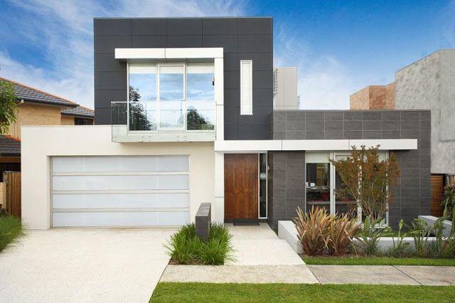 Fachada moderna casas sostenibles houses pinterest for Fachadas exteriores minimalistas