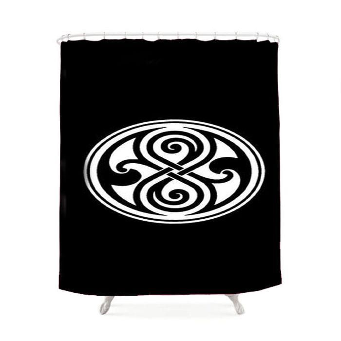 Doctor Who Time Lord Symbol Shower Curtain Products Pinterest