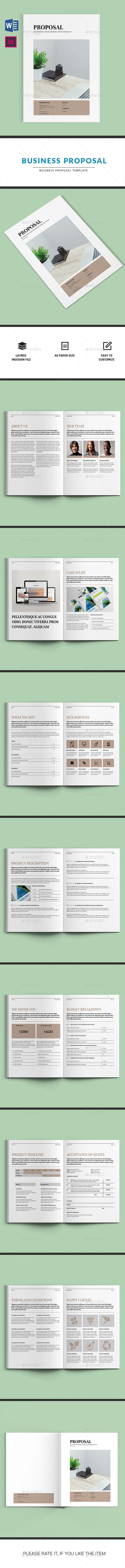 Business Proposal | Indesign & MS Word Template | Editorial y ...