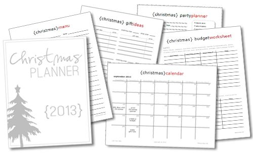 2013 christmas planner and goal lists and to do lists awesome ways to organize - Christmas Lists 2014