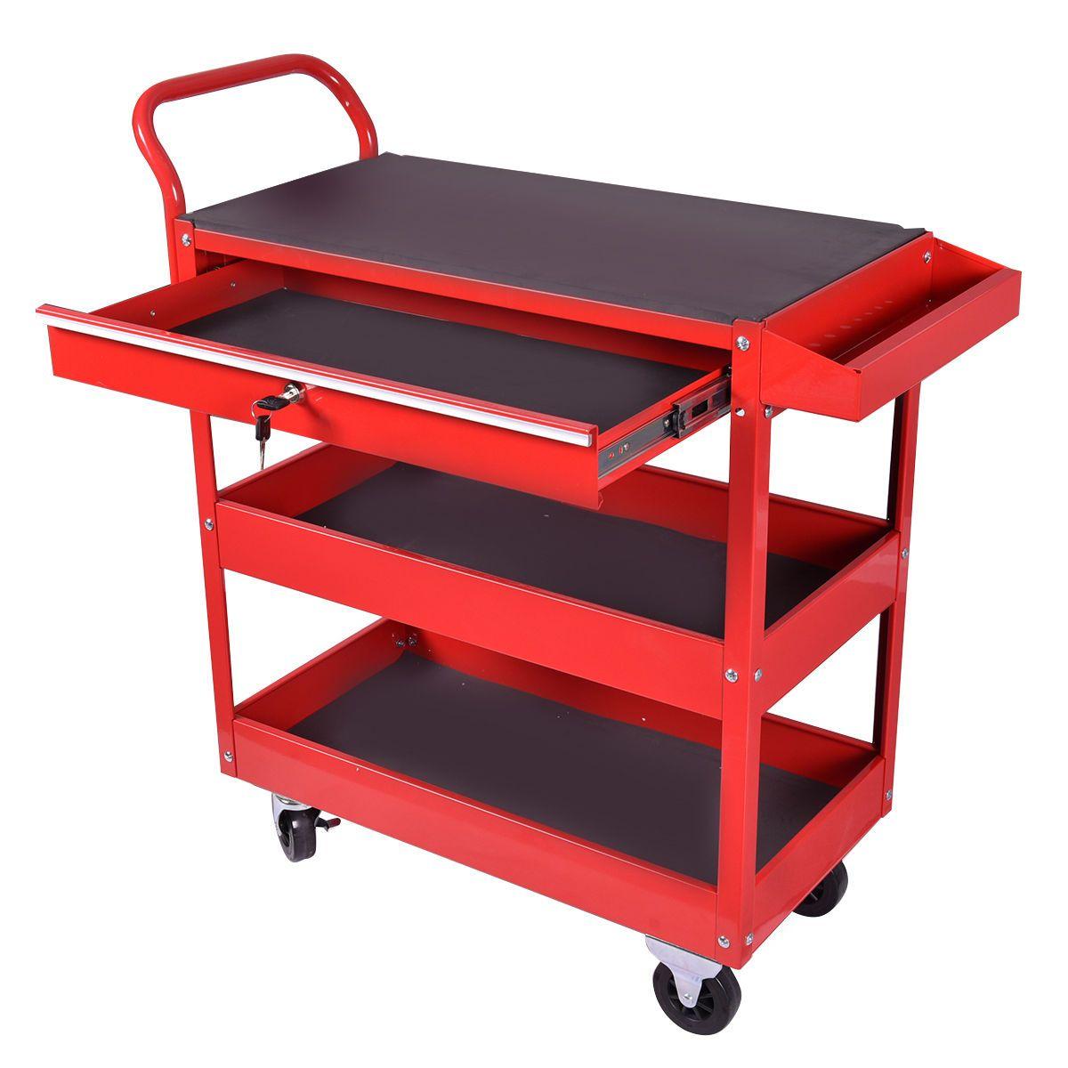 Metal Rolling Tool Cart Storage Chest Box Wheels Storage Trays W Locking Drawer Tool Storage Organization Hardware Accessories Hardwa Mebel Masterskaya