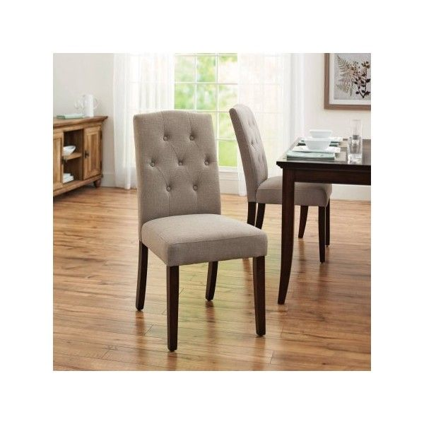 Better Homes And Gardens Parsons Tufted Dining Chair Beige