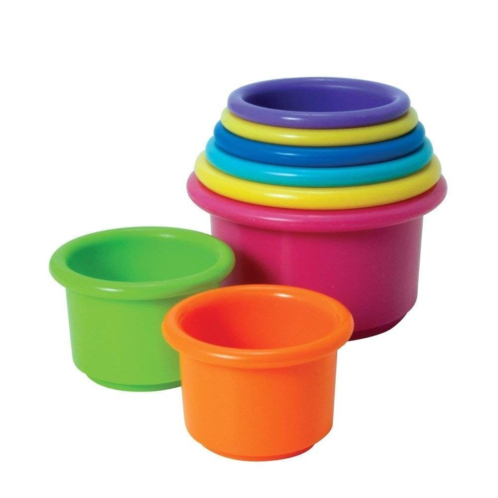 Juguete Clasico Torre Tazas De Colores Para Bebes The First Years