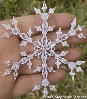 A new spin on paper snowflakes