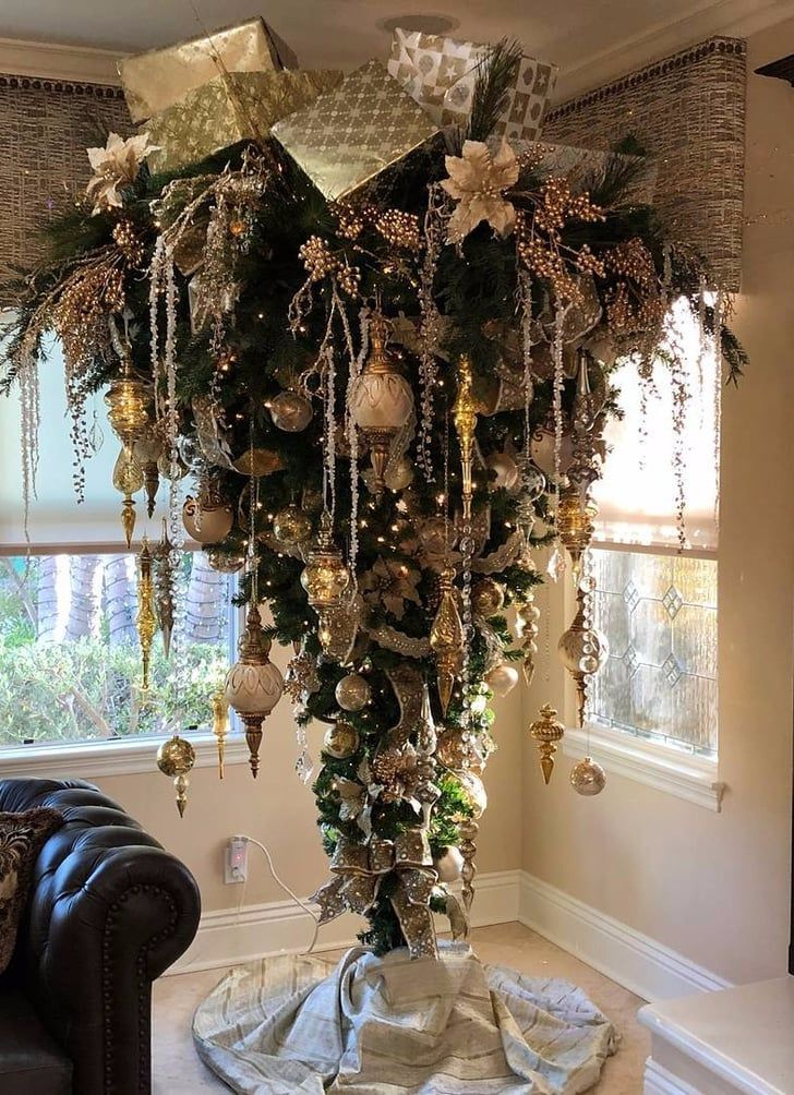 The Upside-Down Christmas Tree Trend Is Totally Bizarre, but We Don't Hate  It - The Upside-Down Christmas Tree Trend Is Totally Bizarre, But We Don