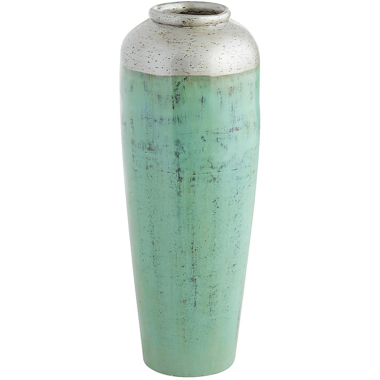 Patina Floor Vase Turquoise Silver Decor Vases Pinterest - Cylinder floor vase silver