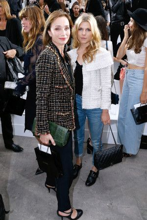 822dc99168 ... Karl Lagerfeld s front row. Kristin Scott Thomas and Clemence Poesy  Chanel