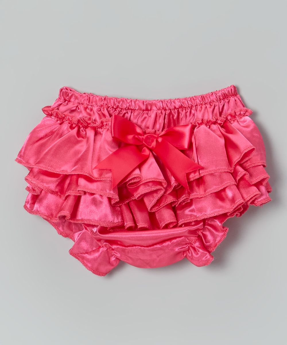 b6fc424ae Hot Pink Ruffle Satin Diaper Cover - Infant   Toddler