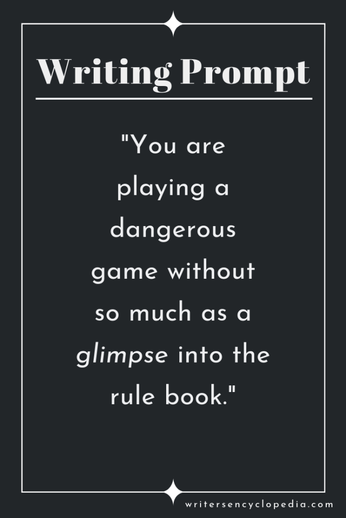 You are playing a dangerous game without so much as a glimpse into the rule  book."