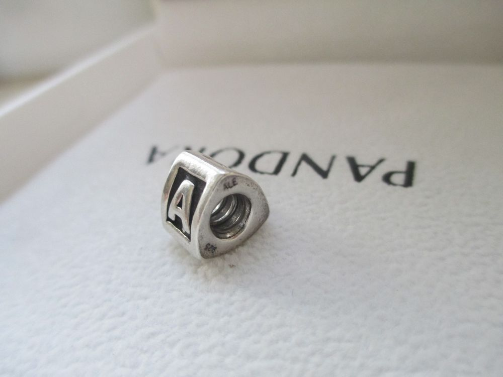 815eee188 Authentic Pandora-790323A-Letter-A-Alpha-Charm- bead ALE 925 retired # PANDORA