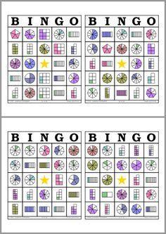 Bingo De Fracciones Matematicas Pinterest Bingo Math Y